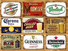 Metal signs plaques vintage retro style Beer bar Corona mancave home wall decor