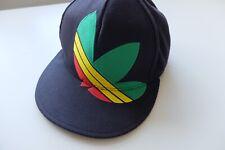 Vintage 2YK Adidas Rasta black cap | S rare Trefoil Originals 2011