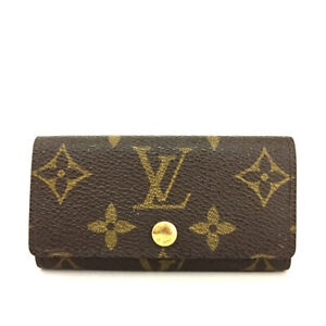 Louis Vuitton Monogram Multicles 4 Ring Key Case /F0994