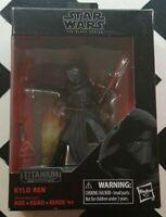 NEW! Hasbro Star Wars The Black Series Titanium Kylo Ren Action Figure