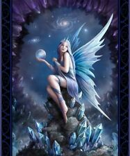 New Anne Stokes Stargazer Fairy Angel Plush Throw Gift Blanket Sherpa Blue Wings