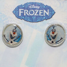Disney Frozen Olaf Oval Earrings Silver Plated Brass