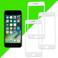 """3x 3D Displayschutzglas für iPhone 8/7 Hartglas Schutzglas Glas 4,7"""" 9H Weiß"""