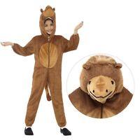 Kids Boys Girls Plush Camel Book Week Zoo Wild Jumpsuit Fancy Dress Costume