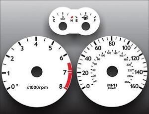 White Face Gauge Kit Fits 2003-2006 Hyundai Tiburon Tuscani Dash Cluster 03-06
