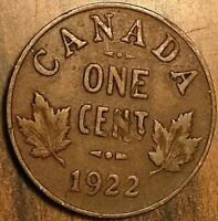 1922 CANADA SMALL CENT COIN PENNY