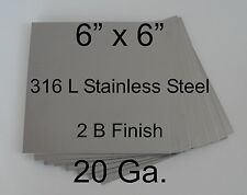 """101 pcs 316L 20 Ga 6"""" x 6"""" Stainless Steel Plate for HHO cell"""