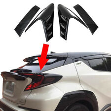 For Toyota C-HR 16-18 Carbon Fiber Style Rear Tail Light Lamp Eyebrow Cover Trim