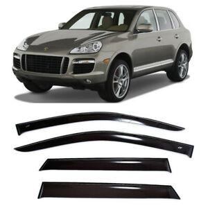 For Porsche Cayenne 2007-2010 Side Window Visors Sun Rain Guard Vent Deflectors
