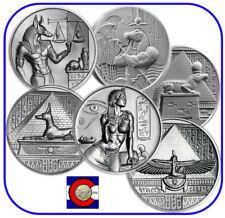 Cleopatra, Anubis, & Sobek 2 oz silver coins in airtites - Egyptian Gods Series