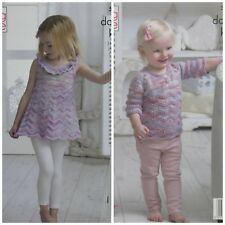 KNITTING PATTERN Childrens Jumper and Tunic Top/Dress Comfort DK King Cole 5112