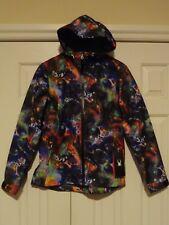 New w/ tags! Womens SPYDER PRYME SHELL HOODED WATERPROOF JACKET Tye Dye Print