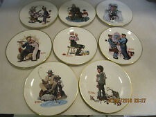 8 Danbury Mint Norman Rockwell Fine China Plate Collection Limited Edition 1978