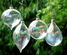 8x Clear Glass Olive Balls Christmas Ornaments pendant decoration Wedding Ball