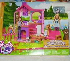 Barbie Camping Fun Fully Furnished Playset W/ Pet Dog Teaset and Accessories NIB