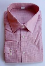 Ex M&S MENS REGULAR FIT TEXTURED PEACH CHECK COTTON SHIRT BNWOT 14.5-18.5 B10