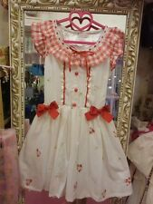 **US SELLER** RED RIBBON FLOWER BOWTIE DRESS SHIBUYA HIME GYARU LIZ LISA JAPAN