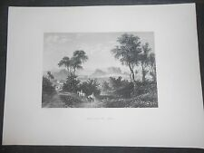 1840 STEEL ENGRAVING ATHENS FROM THE FLISSUS GREECE ENGRAVER BRANDARD