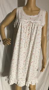 Vintage Secret Treasures Cotton Blend Sleeveless Nightgown Floral Print Large