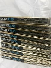 """Maxell UD 35-90 7"""" reel-to-reel tape USED LOT OF 8"""