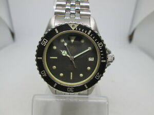 VINTAGE TAG HEUER 1000 SERIES STAINLESS STEEL  QUARTZ MENS DIVER WATCH