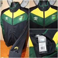 Umbro Mens Jamaica Nationals Football Soccer Zip Reggae Track Jacket Size Small