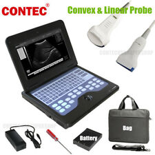 Vet Portable Ultrasound Scanner Machine Animal Convex Probe CONTEC Cms600p2 CE