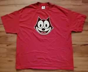 Vintage Felix The Cat Red Graphic Tee Men's Size 2XL