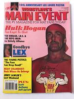 **HULK HOGAN / LEX LUGER WWF WWE NWA WCW WRESTLING MAIN EVENT MAGAZINE 1992**