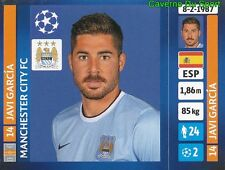 274 JAVI GARCIA ESPANA MANCHESTER CITY FC STICKER CHAMPIONS LEAGUE 2014 PANINI