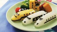 Train Shape Sushi Rice Press Mold Nori Press Cutter Cutting Mat Set Baby Love