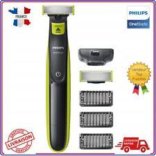 Rasoir électrique philips one blade hommes 3 sabots + lame barbe visage