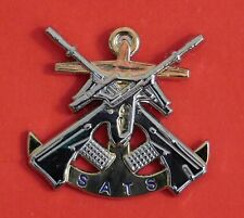 ROYAL AUSTRALIAN NAVY SMALL ARMS TRAINING SCHOOL BADGE WITH TWO PINS 30MM HIGH