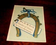 Antique REWARD OF MERIT CARD  from PIANO TEACHER