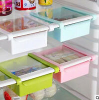 Slide Kitchen Fridge Space Freezer Organizer Saver Storage Rack Shelf Holder GB
