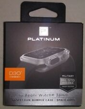 NEW PLATINUM PROTECTIVE BUMPER CASE FOR APPLE WATCH 38mm SPICE GREY  G-19