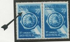 "ARGENTINA 1939 11th UPU 20 C blue M/M VARIETY ""CORRFOS"" instead of ""CORREOS"", R!"