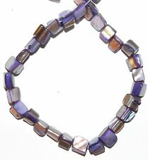 """MP1749f Purple Grape Med (8-10mm) Tri-Tip Nugget Mother Of Pearl Shell Beads 15"""""""