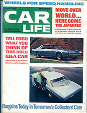 Car Life Magazine August 1968 Ford Japanese Cars EX NO ML 121415jhe