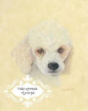 Custom Dog Pet portrait Dog art gift coloured pencil painting from your photo