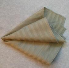 Hankie COTTON Pocket Square Handkerchief MENS Hanky BROWN BEIGE STRIPED