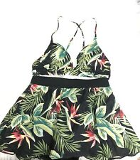 Vintage Floral Tropical Two Piece Catalina Bikini Skirt Bathing Swimsuit Small