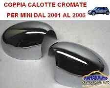 COPPIA CALOTTE COPPE SPECCHIO Retrovisore CROMATE MINI 2001 - 2006 DX+SX 01-06