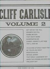 CLIFF CARLISLE volume 2 OLD TIMEY LP US EX+