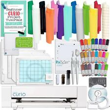 Silhouette Curio Starter Bundle with 12 Oracal Sheets, Pixscan Mat, 24 Sketch Pe