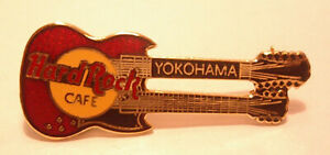 Yokohama Red Gibson DoubleNeck Guitar raised long Letters 3LC 1997 hard rock B19