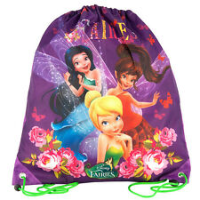 Disney Fairies Drawstring Shoe Bag Dance Swim PE Sports Holiday Girls