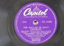 78rpm TENNESSEE ERNIE FORD ballad of davy crocket / farewell