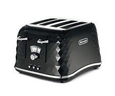 De'Longhi Brillante Faceted 4 Slice Toaster CTJ4003.BK - Black