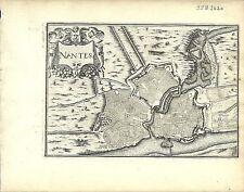 Antique map, Nantes